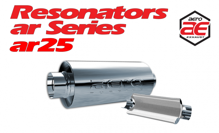 "Aero Exhaust Resonator - ar25 AR Series - 2.5"" Inside Diameter Necks"