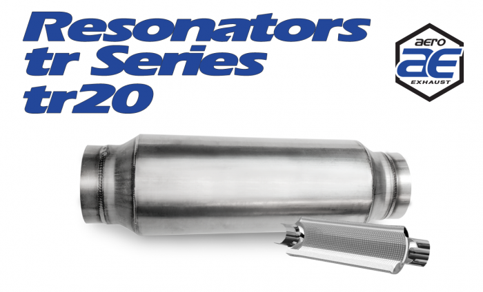 "Aero Exhaust Resonator - tr20 tr Series - 2"" Inside Diameter Necks"