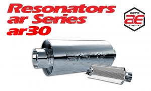 "Resonators - AR - Aero Exhaust - Aero Exhaust Resonator - ar30 AR Series - 3"" Inside Diameter Necks"