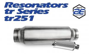 "Resonators - TR - Aero Exhaust - Aero Exhaust Resonator - tr251 TR Series - 2.5"" Inside Diameter Necks"