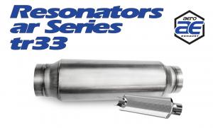 "Resonators - TR - Aero Exhaust - Aero Exhaust Resonator - tr33 TR Series - 3"" Inside Diameter Necks"