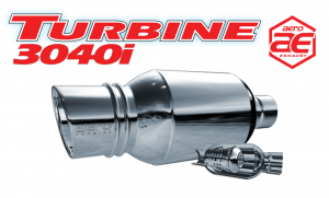 "Mufflers - Aero Turbine - Aero Exhaust - Aero Exhaust Aeroturbine AT3040i 3"" Inlet with 4"" Tip"