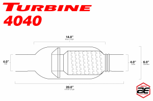 "Aero Exhaust - Aero Exhaust - Turbine AT4040 Performance Muffler 4"" Inside Diameter Necks (Aggressive Sound) - Image 3"