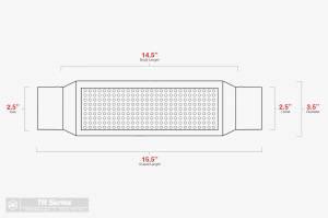 "Aero Exhaust - Aero Exhaust Resonator - tr253 TR Series - 2.5"" Inside Diameter Necks - Image 3"